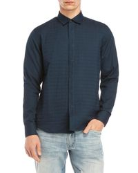 W.r.k. | Blue Quilted Grant Shirt Jacket for Men | Lyst