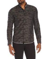 Descendant Of Thieves - Gray Camouflage Button-Down Shirt for Men - Lyst
