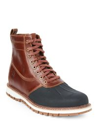 Timberland - Brown Tan & Black Britton Hill Side Zip Duck Boots for Men - Lyst