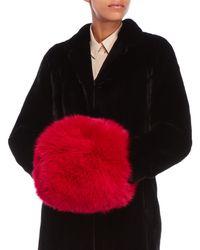 Yves Salomon - Pink Real Fur Muff - Lyst