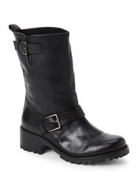 Cole Haan | Black Hemlock Leather Buckle Boots | Lyst