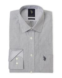 U.S. POLO ASSN. - Black Fine Line Stripe Regular Fit Dress Shirt for Men - Lyst