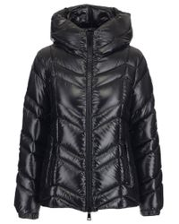 Moncler - Black High Neck Puffer Jacket - Lyst