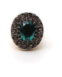 Alexander McQueen - Green Stone Ring - Lyst