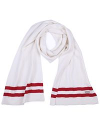 Bally - White Striped Scarf for Men - Lyst