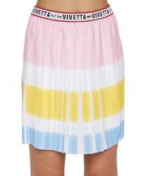 Vivetta - Multicolor Pleated Skirt - Lyst
