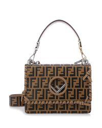 Fendi - Brown Kan I F Print Shoulder Bag - Lyst