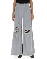 Alexander Wang - Gray T By Distressed Sweatpants - Lyst