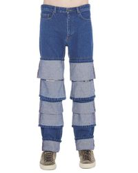 Y. Project - Blue Triple Cuff Jeans for Men - Lyst