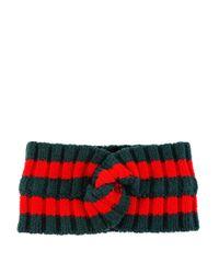 Gucci - Red Wool Web Headband - Lyst