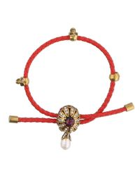 Alexander McQueen - Red Jewel Charm Bracelet - Lyst