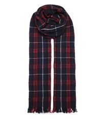 Isabel Marant - Red Plaid Isidore Scarf - Lyst