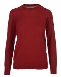 Burberry - Red Elbow Patch Jumper for Men - Lyst