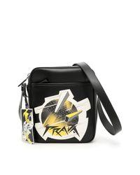 Prada - Black Comic Print Messenger Bag for Men - Lyst