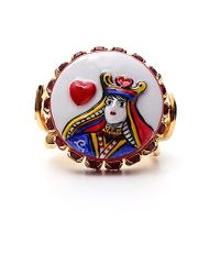 Dolce & Gabbana - Multicolor Queen Of Hearts Ring - Lyst