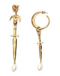 Givenchy - Metallic Dagger Pendant Earrings - Lyst