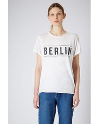 TOPSHOP | White Berlin Burnout Tee | Lyst