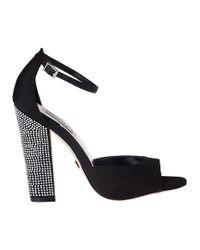 Badgley Mischka - Wynter Evening Sandal Black Fabric - Lyst