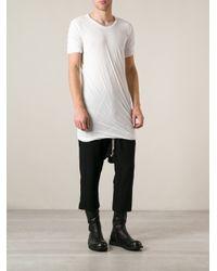 Rick Owens - White Draped Long Tshirt for Men - Lyst