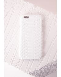 Missguided - Multicolor Snake Textured Iphone 5 Case White - Lyst