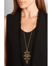Arme De L'Amour - Metallic Symbiotic Sphere Gold-plated Necklace - Lyst