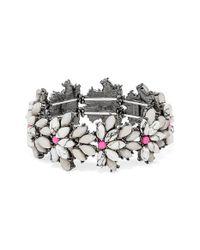 BaubleBar - Metallic 'tiffany' Crystal Stretch Bracelet - Howlite/ Hematite - Lyst