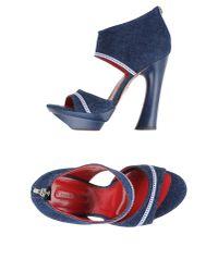 Cesare Paciotti - Blue Sandals - Lyst