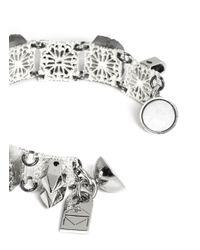 Assad Mounser - Metallic Crystal Stone Filigree Bracelet - Lyst