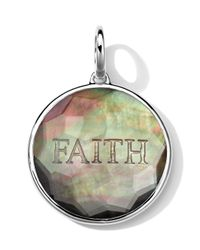 Ippolita - Metallic Sterling Silver Carved Intaglio Faith Charm - Lyst