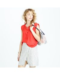 J.Crew - Pink Sleeveless Drapey Popover Shirt - Lyst