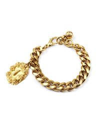 Lulu Frost - Metallic Victorian Plaza Charm Number Bracelet #1 - Lyst