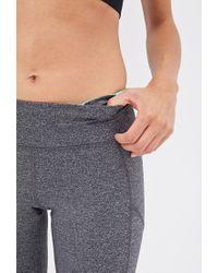 Forever 21 - Gray Active Reflective-trimmed Capri Leggings - Lyst
