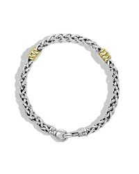 David Yurman - Metallic Two-Station Chain Bracelet With Gold for Men - Lyst
