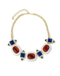Kenneth Jay Lane | White And Ruby Necklace | Lyst