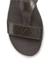 Aerosoles | Gray World Chlass T-Strap Sandals | Lyst