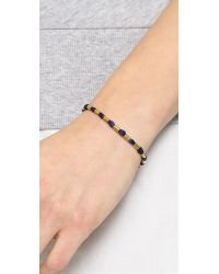 Shashi - Blue Carly Yellow Bracelet - Navy - Lyst
