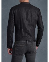 John Varvatos - Black Linen Officer Jacket for Men - Lyst