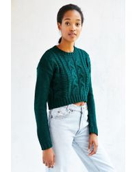 Lucca Couture - Green Cropped Sweater - Lyst