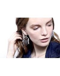 DANNIJO | Metallic Coley Crystal Chandelier Earrings | Lyst