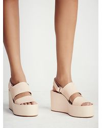 Free People | Pink Koi Platform Wedge | Lyst