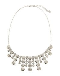 Carolee - Metallic Silver-Tone Fringe Necklace - Lyst