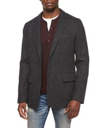 Rag & Bone | Gray Reserve Stretch-Cotton Blazer | Lyst