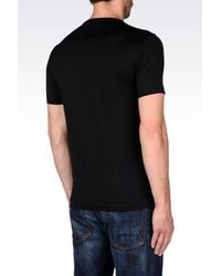 Emporio Armani | Black T-shirt In Pima Cotton Jersey for Men | Lyst