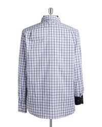 Victorinox | Blue Plaid Sportshirt for Men | Lyst