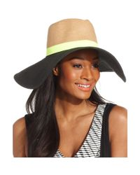 BCBGMAXAZRIA | Natural Color Block Floppy Fedora | Lyst