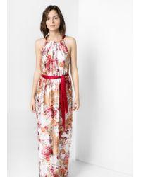Mango - Multicolor Halter Gown - Lyst