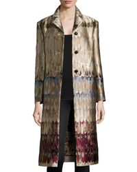 Valentino - Multicolor Angel-wings Brocade Three-button Coat - Lyst