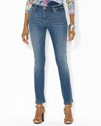 Ralph Lauren | Blue Lauren Premium Modern Skinny Jeans | Lyst