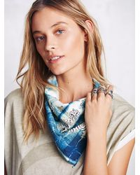 Free People | Blue Jean Shop Womens Shibori Hand Dyed Bandana | Lyst