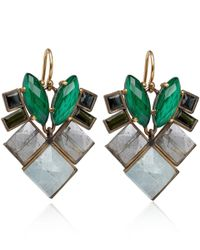 Nak Armstrong - Green Gold Malachite and Tourmaline Earrings - Lyst